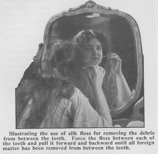 Flossing the teeth