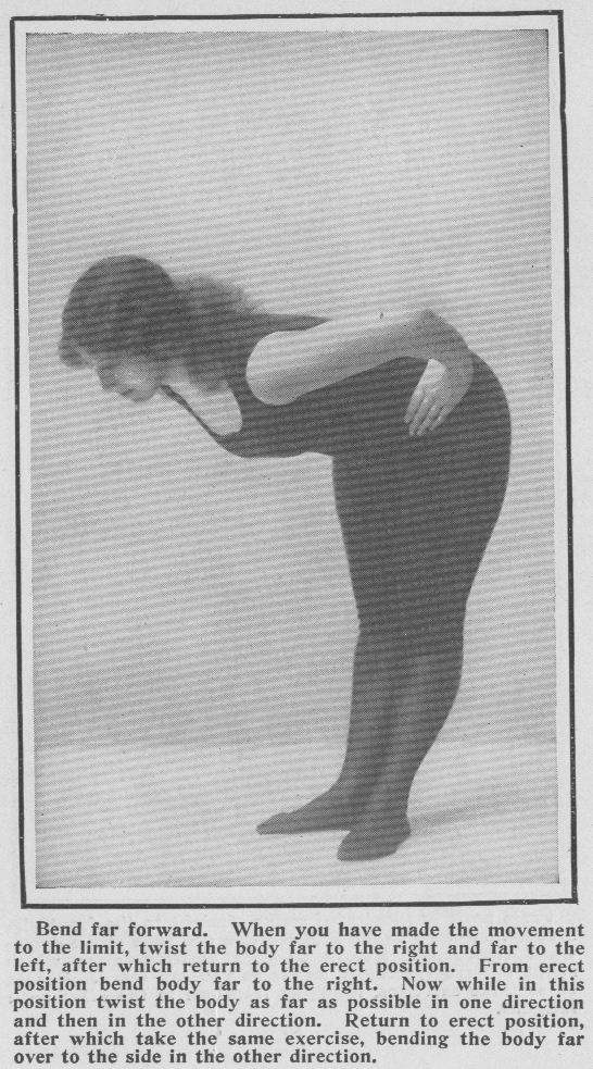 woman bending forward