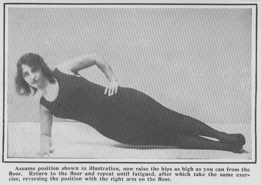 woman exercising lateral abdominal muscles