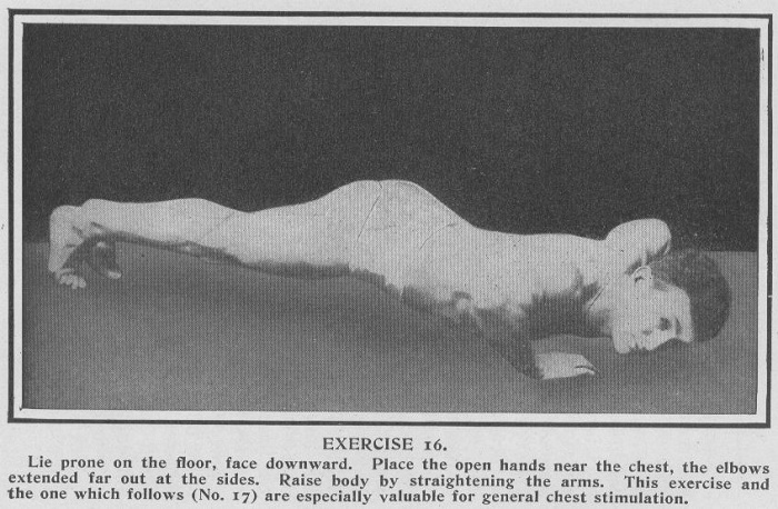 The pushup, an exercise for strengthening the digestive system
