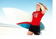 Vitality woman surfer