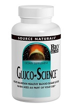 Gluco-Science for Healthy Blood Sugar Levels 180 tabs from Source Naturals