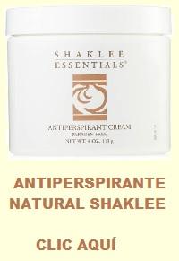 Encuentra antitranspirante naturales en esta tienda de la salud natural en línea con cientos de productos de salud de Shaklee. width=