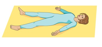 Illustration of the corpse pose